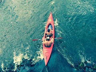 Fototapeta Spływ kajakowy obraz