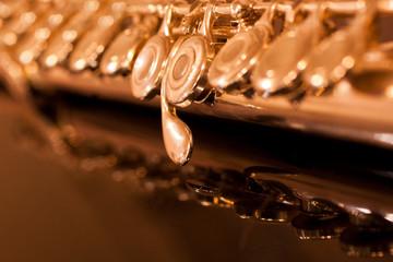 Fragment flute in golden tones