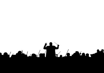 Symphony Orchestra in the form of a silhouette