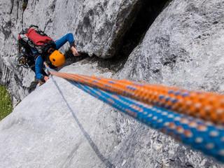 Foto op Textielframe Alpinisme Rock climbing