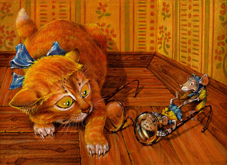 Cat and Mouse 1, series of cards