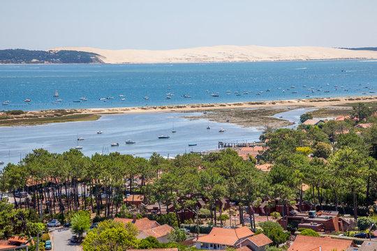 La dune du Pilat depuis le phare de Cap Ferret