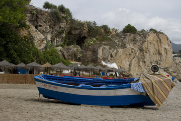 A boat on the coast of Nerja (Spain)