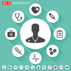 Medical vector icon set