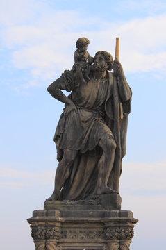 Saint Christopher statue in Prague, Czech Republic