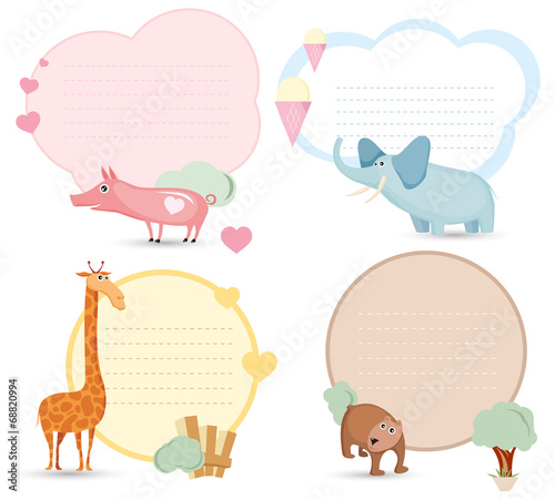 Love message card template\