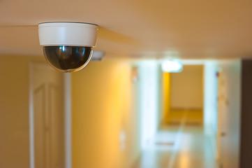 CCTV in front of rooms in condominium