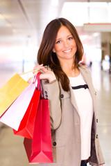 beautiful young woman shopping.