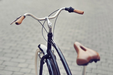 Vintage bicycle closeup