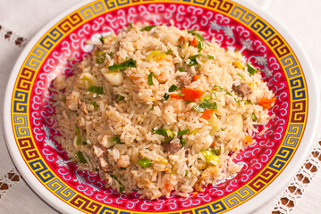 Chinese rice plate