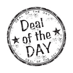 Deal of the day rubber stamp