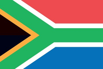 Illustration of the flag of South Africa