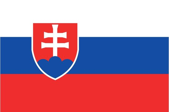 Illustration of the flag of Slovakia