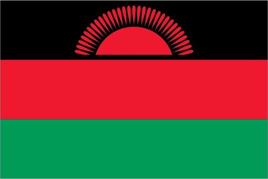 Illustration of the flag of Malawi