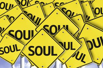 Soul written on multiple road sign
