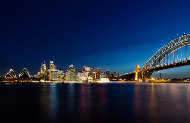 Fotomurales - Skyline of Sydney by Night