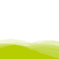 Green landscape background, forest, vector illustration