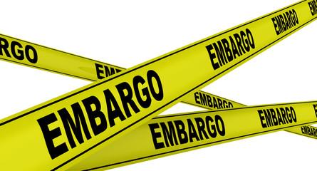 Эмбарго (embargo). Желтая оградительная лента Wall mural