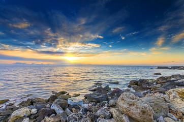 marvelous bright sunset