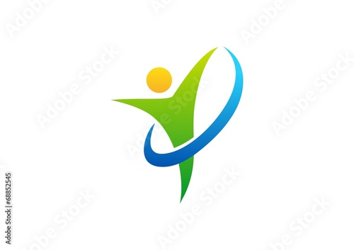 wellness logo health people nature fitness business symbol stock rh fotolia com Health and Wellness Clip Art health and wellness logos