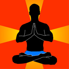 Yoga-man in colour