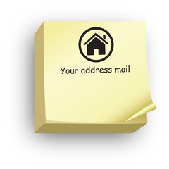 Post-it your address mail