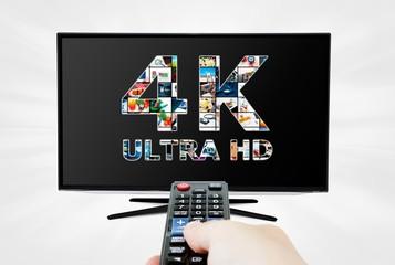TV ultra HD. 4K television resolution technology