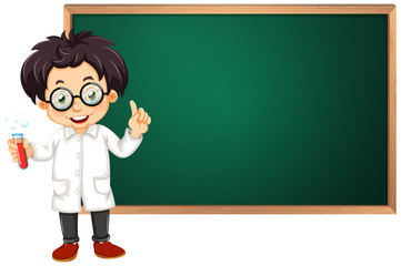 Scientist in classroom