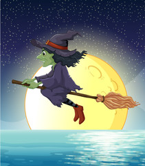 Witch and fullmoon