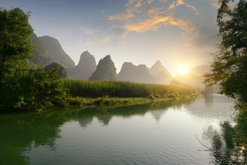 landscape in Yangshuo Guilin, China
