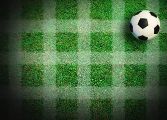 Soccer football field at stadium