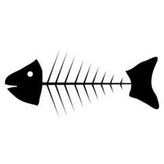 Skeleton of fish icon