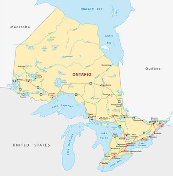 Ontario Straßenkarte