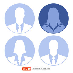 Businesspeople avatar profile picture icon set