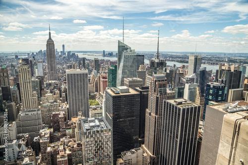 Fototapete New York City Manhattan midtown buildings skyline view