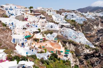 Oia architecture on the Island Santorini, Greece.