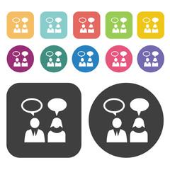 Communication icons set.  Illustration eps10