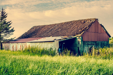 Old barn house in the country