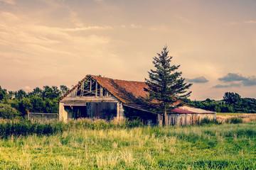 Old broken farm