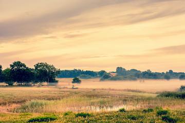 Beautiful sunrise at a countryside