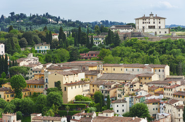 Fototapete - Hill Village in Tuscany, Italy