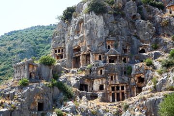 Ancient lycian tombs