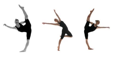 professional female dancer in motion