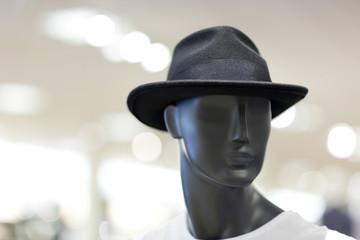 Mens hat on a mannequin