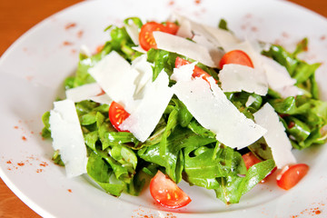Salad with parmesan