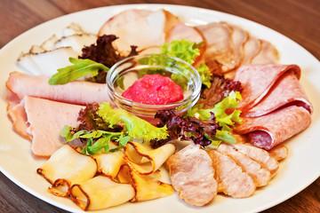 Assorted meat delicatessen