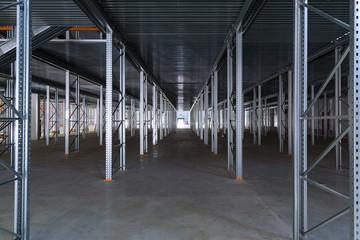 A modern factory warehouse
