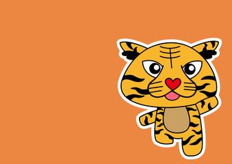 Illustration of Tiger cartoon