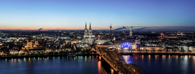 Cologne Panorama at night