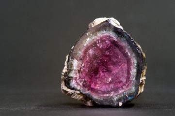 Elbaite (a type of tourmaline) from Mozambique. 3.8cm across.